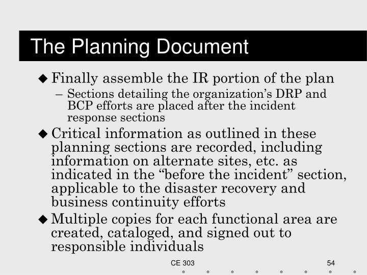 The Planning Document