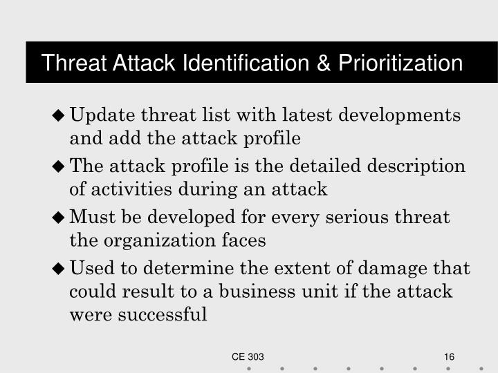 Threat Attack Identification & Prioritization