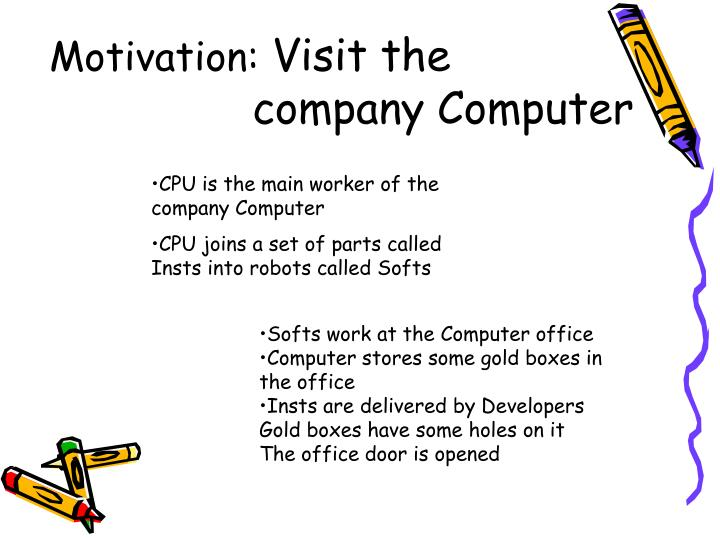 Motivation visit the company computer