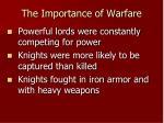 the importance of warfare