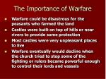 the importance of warfare1