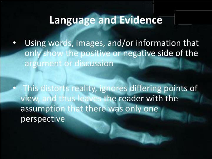 Language and Evidence