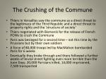 the crushing of the commune