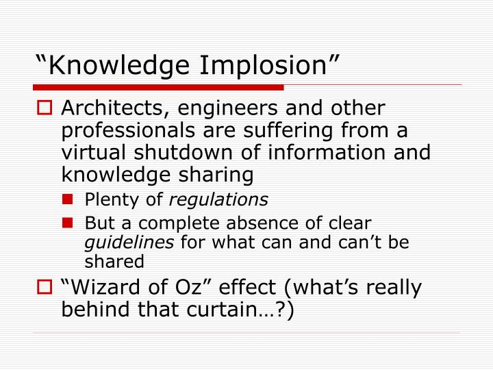 """Knowledge Implosion"""