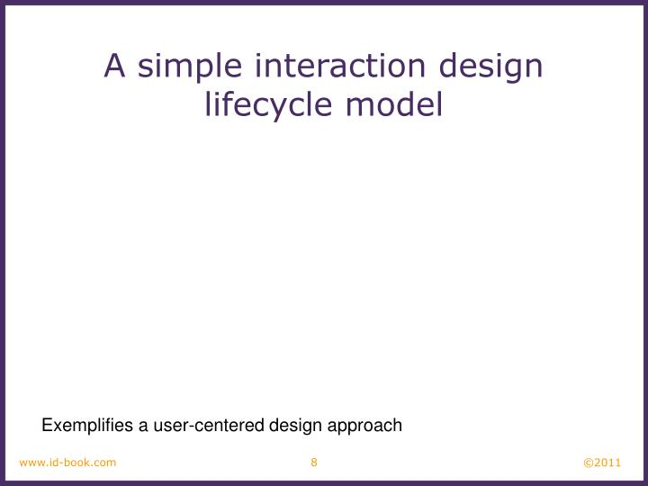A simple interaction design lifecycle model