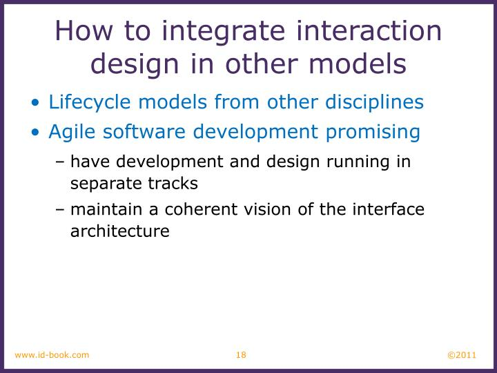 How to integrate interaction design in other models