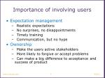 importance of involving users