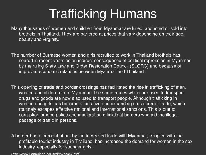 Trafficking Humans