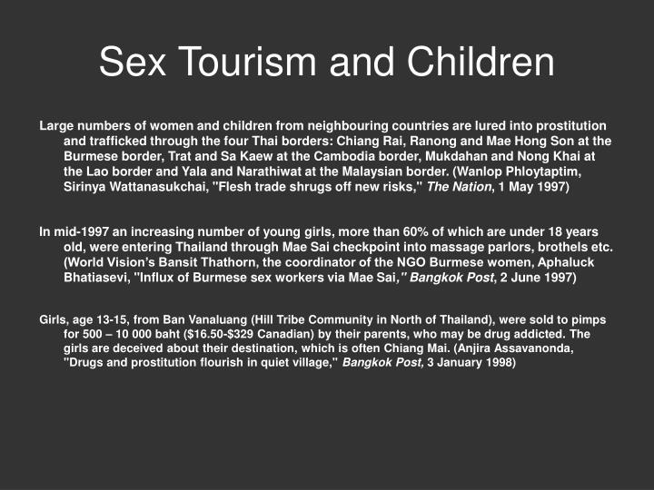 Sex Tourism and Children