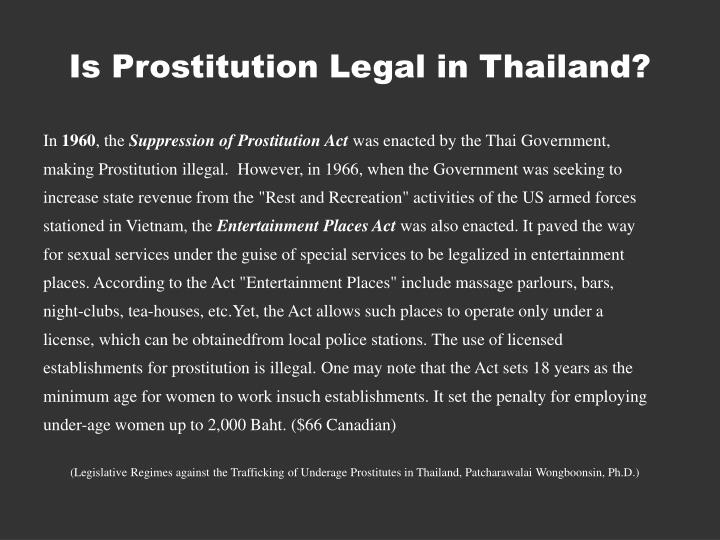 Is Prostitution Legal in Thailand?