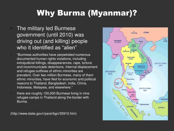 Why Burma (Myanmar)?