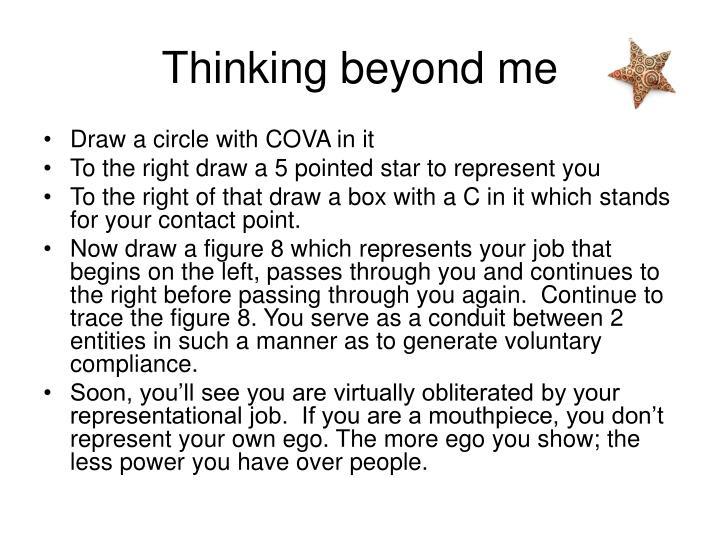 Thinking beyond me