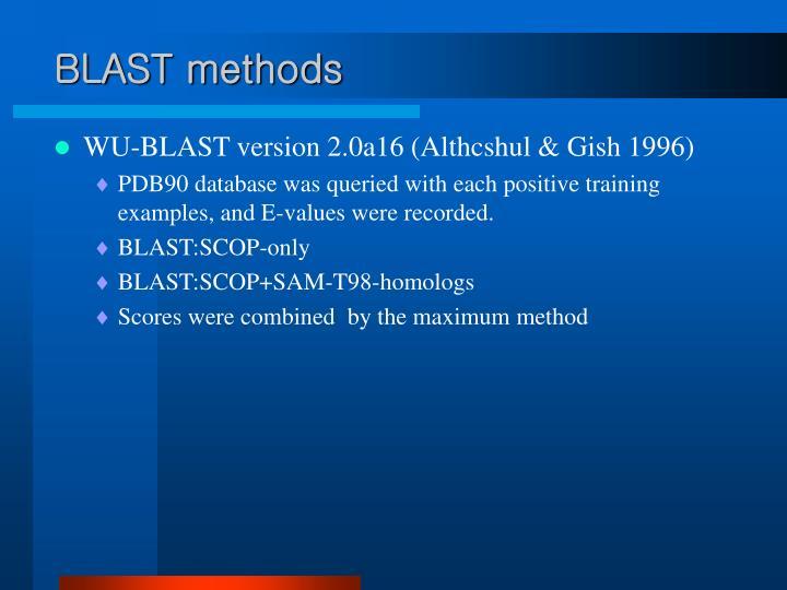 BLAST methods