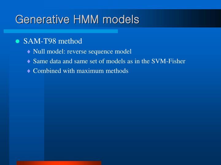 Generative HMM models