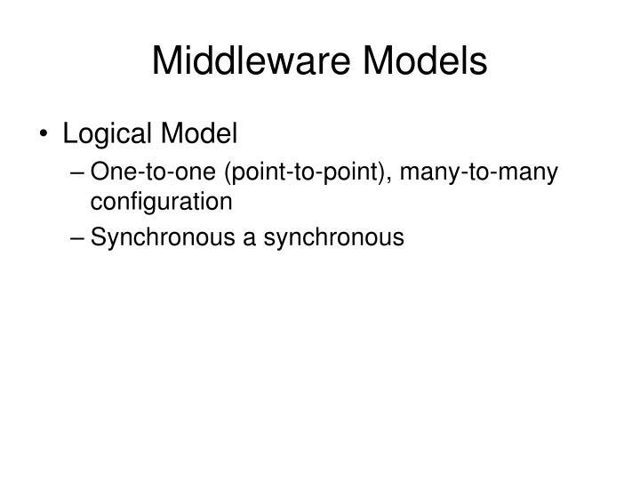Middleware Models