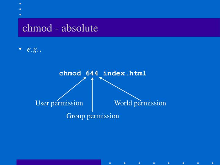 chmod - absolute