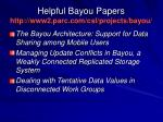 helpful bayou papers http www2 parc com csl projects bayou