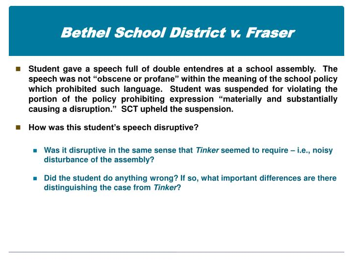 Bethel school district v fraser