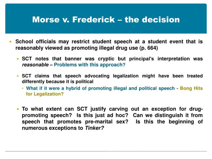 Morse v. Frederick – the decision