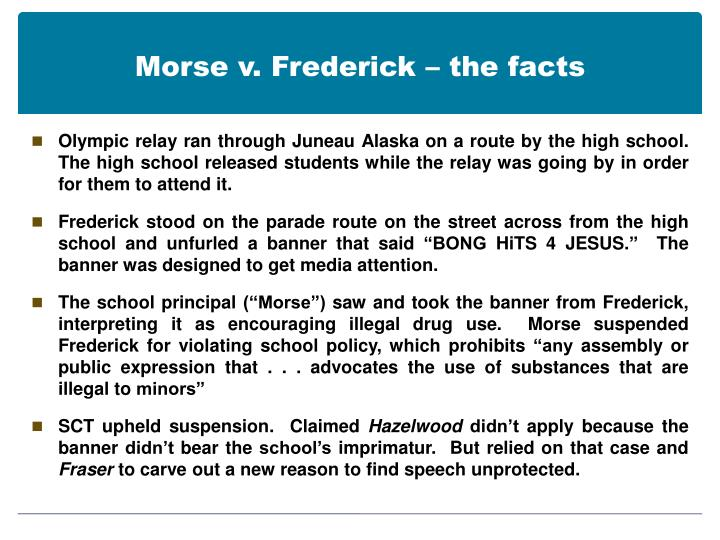 Morse v. Frederick – the facts
