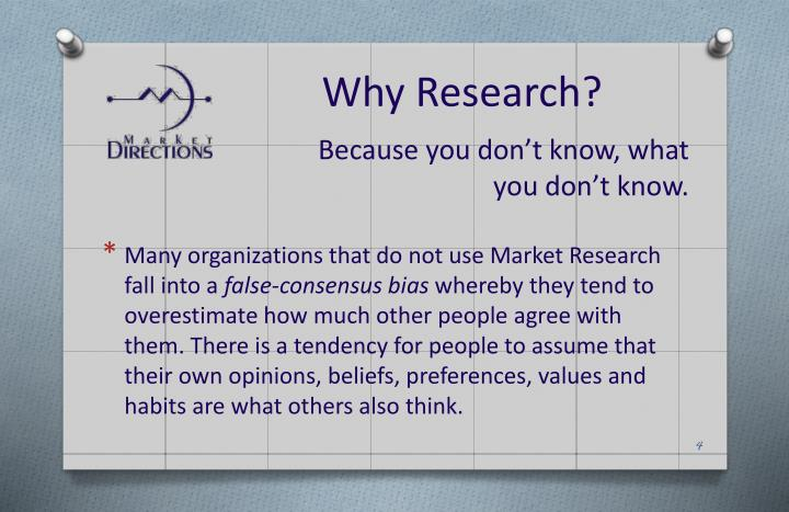 Why Research?
