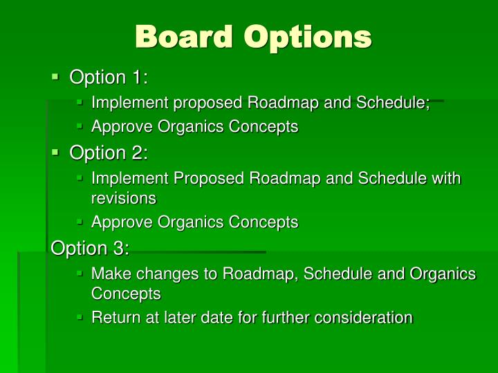 Board Options