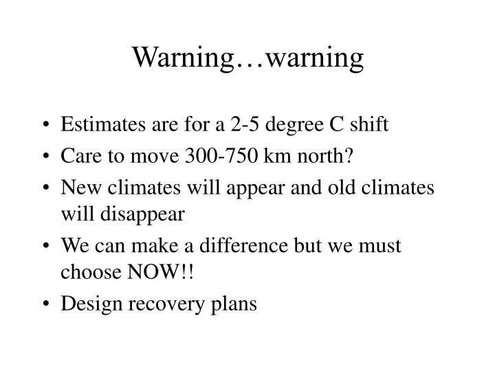 Warning…warning