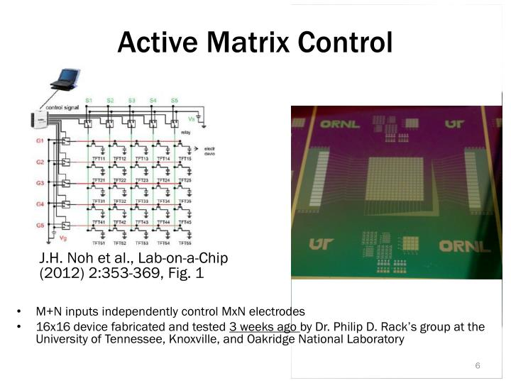 Active Matrix Control