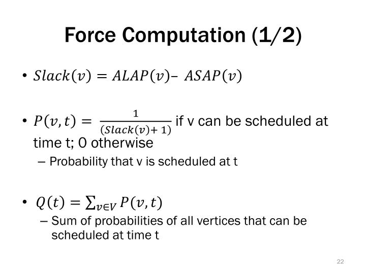 Force Computation (1/2)