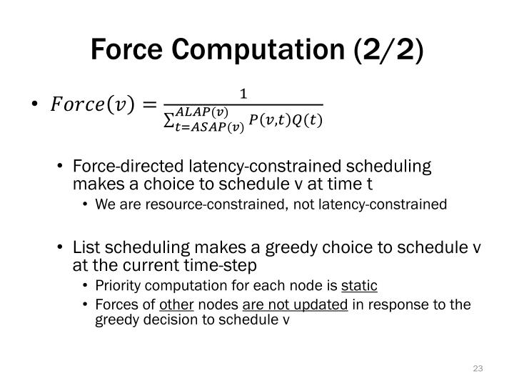 Force Computation (2/2)