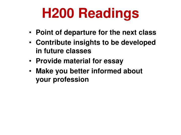 H200 Readings