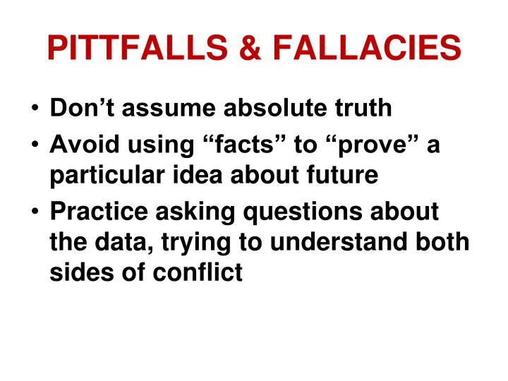 PITTFALLS & FALLACIES