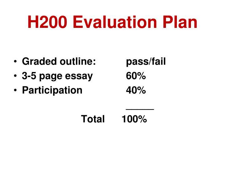H200 Evaluation Plan