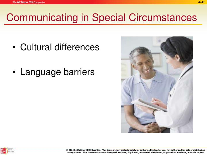 Communicating in Special Circumstances
