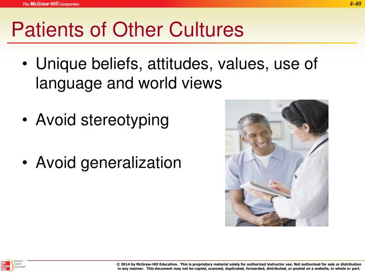 Patients of Other Cultures