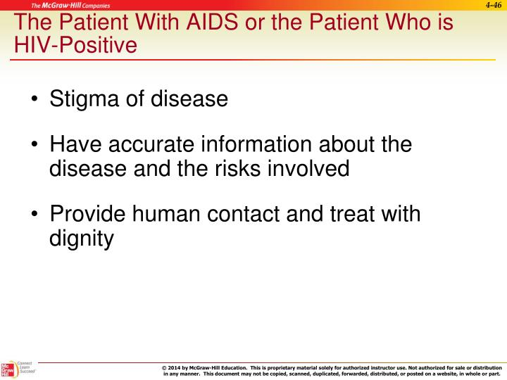 The Patient With AIDS or the Patient Who is HIV-Positive
