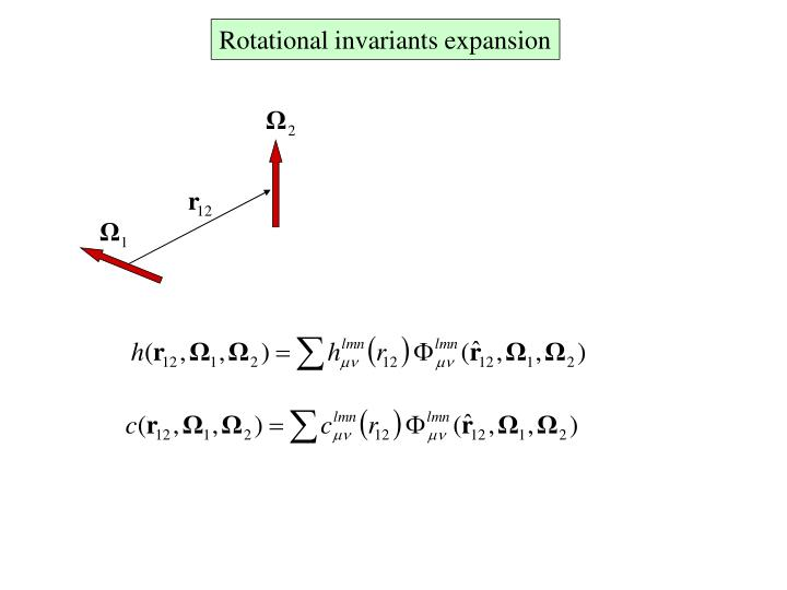 Rotational invariants expansion