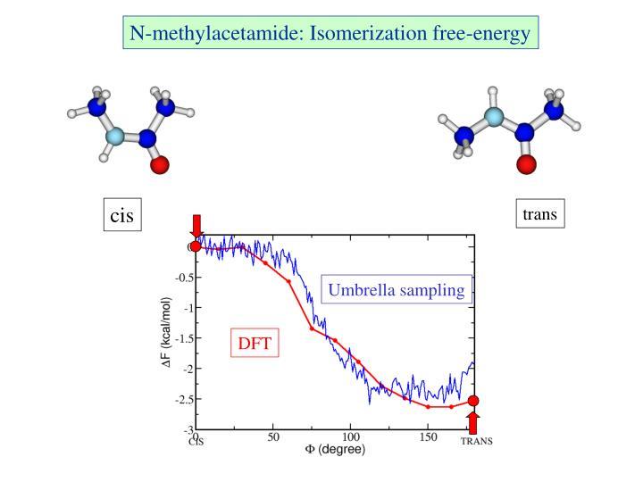 N-methylacetamide: Isomerization free-energy