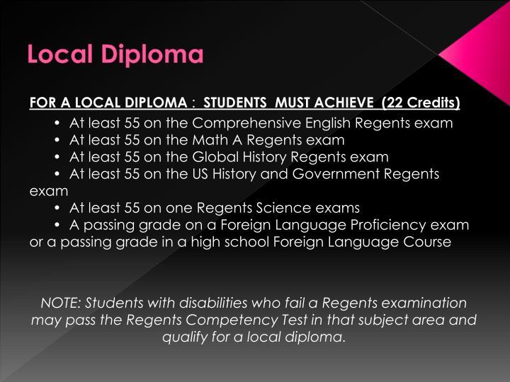 Local Diploma