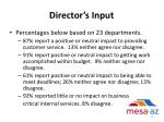 director s input