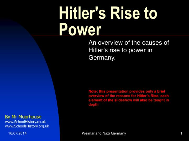 hitlers rise essay