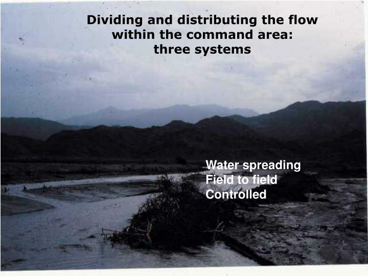 Dividing and distributing the flow