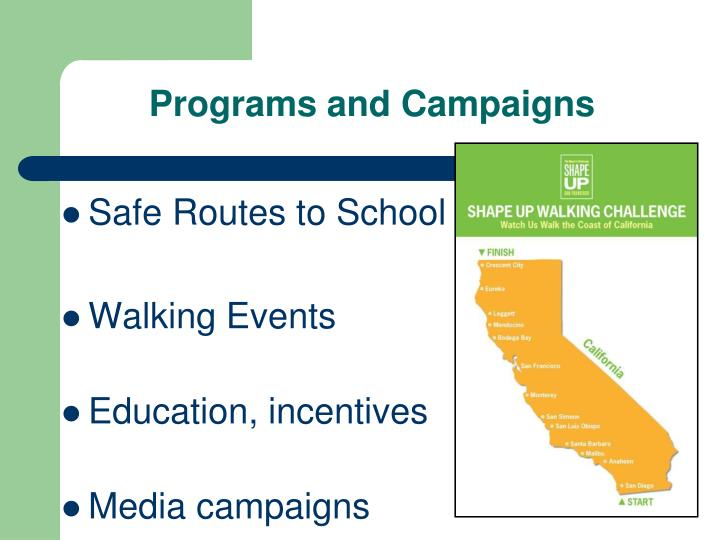 Programs and Campaigns