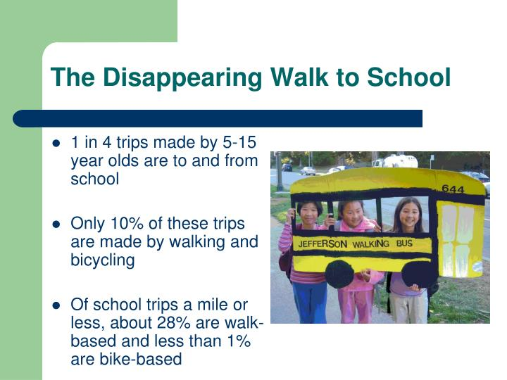 The Disappearing Walk to School