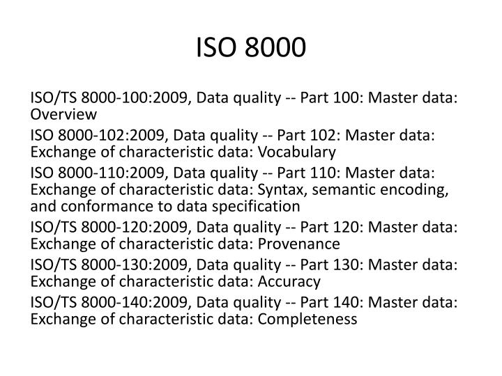 ISO 8000