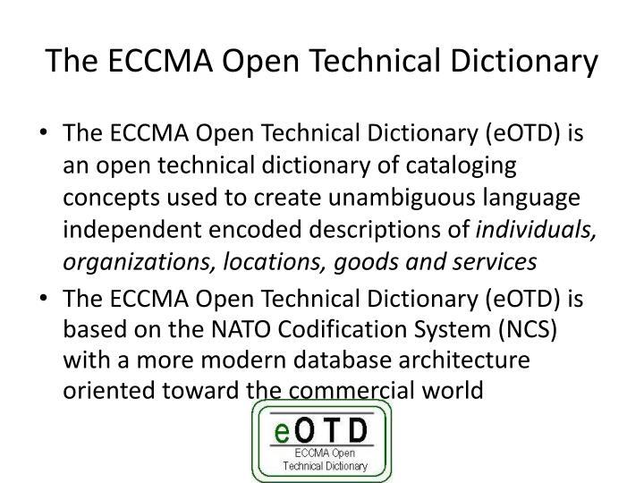 The ECCMA Open Technical Dictionary