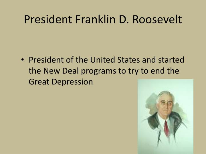 the purpose of franklin roosevelts new deal program