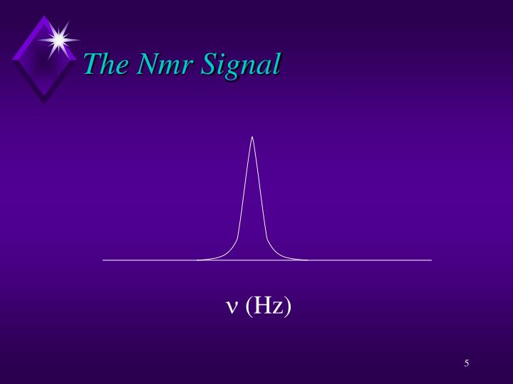 The Nmr Signal