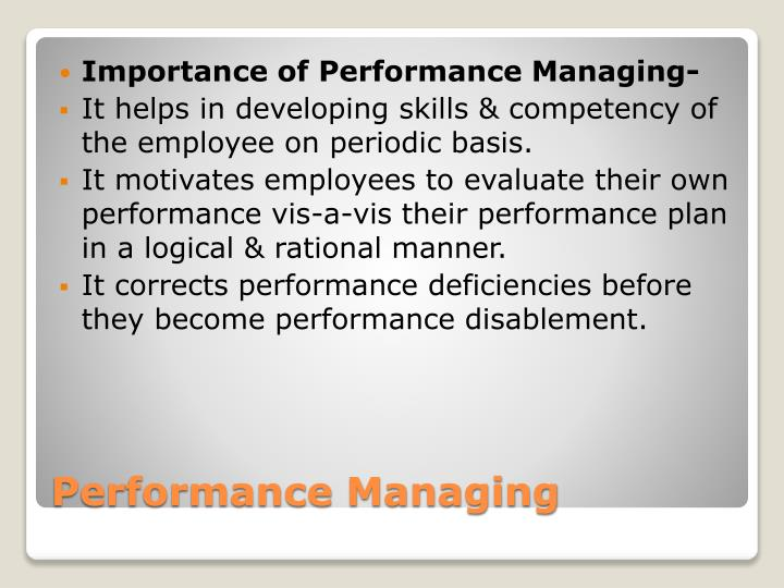 Importance of Performance Managing-