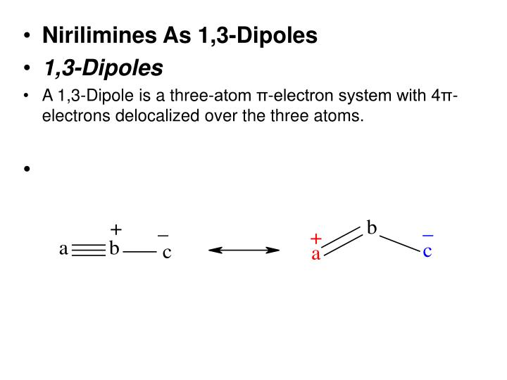 Nirilimines As 1,3-Dipoles
